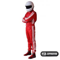 FIA състезателен гащеризон RRS EVO Diamond червен