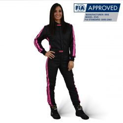 FIA състезателен гащеризон RRS EVO Diamond черен / Rose