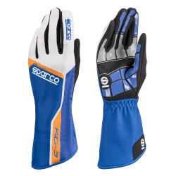 Състезателни ръкавици Sparco Track KG-3 (вътрешни шевове) син/бял