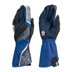 Състезателни ръкавици Sparco Motion KG-5 (външен шев) черен/blue
