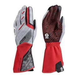 Състезателни ръкавици Sparco Motion KG-5 (външен шев)бял/червен