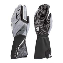 Състезателни ръкавици Sparco Motion KG-5 (външен шев) черен/бял
