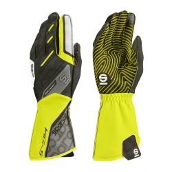 Състезателни ръкавици Sparco Motion KG-5 (външен шев) черен/жълт