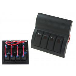Водоустойчив панел с 4 Carling Rocker превключватели (IP68)