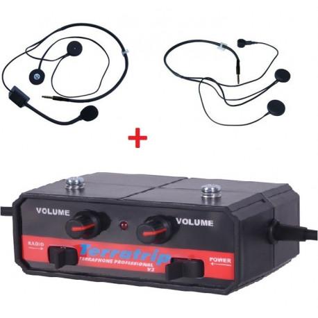 Sady interkomov Интерком система set Terratrip професионален + 2x слушалки комп. | race-shop.bg