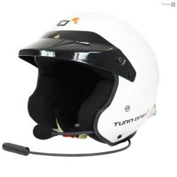 Каска Turn One Jet-RS с FIA 8859-2015, Hans с интерком