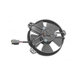 Универсален електрически вентилатор SPAL 130мм - издуващ, 24V