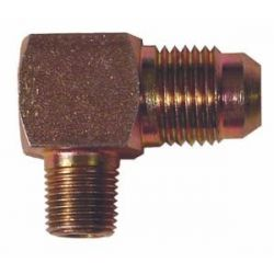 Неръждаема стомана Редукция връзка 90° - Sytec 1/8 NPT до AN6, AN8