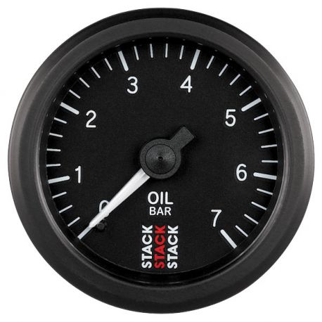 Датчици STACK стандарт52мм STACK датчик Налягане на маслото0 -7 bar (Механичен ) | race-shop.bg