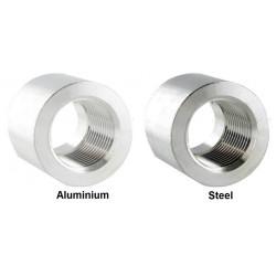 Фитинги на заваряване - женски 1/4 NPT, алуминий , стомана