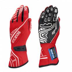 Състезателни ръкавици Sparco LAP RG-5 с FIA червен