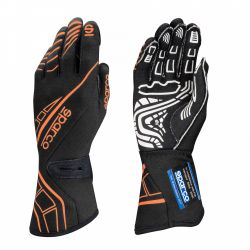 Състезателни ръкавици Sparco LAP RG-5 с FIA черен-оранжев