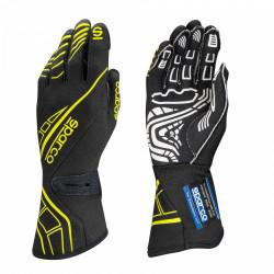 Състезателни ръкавици Sparco LAP RG-5 FIA черен-жълт