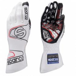 Състезателни ръкавици Sparco Arrow EVO RG-7 с FIA (външни шевове)бял