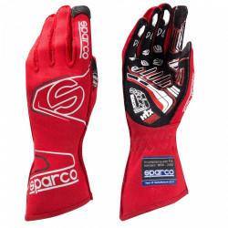Състезателни ръкавици Sparco Arrow EVO RG-7 с FIA (външни шевове) червен