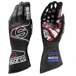 Състезателни ръкавици Sparco Arrow EVO RG-7 с FIA (външни шевове) черен-червен