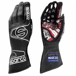 Състезателни ръкавици Sparco Arrow EVO RG-7 с FIA (външни шевове) черен-сив