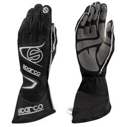 Състезателни ръкавици Sparco Tide RG-9 с FIA (външни шевове) черен