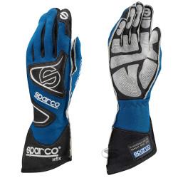Състезателни ръкавици Sparco Tide RG-9 с FIA (външни шевове) син