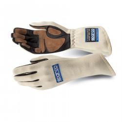 Състезателни ръкавици Sparco Land Classic FIA бял