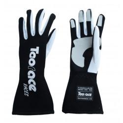 RACES TRST2 ръкавици с FIA одобрение (вътрешни шевове) черен