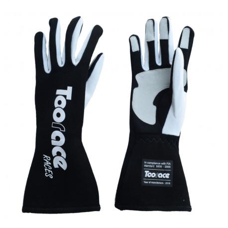 Ръкавици RACES TRST2 ръкавици с FIA одобрение (вътрешни шевове) черен | race-shop.bg