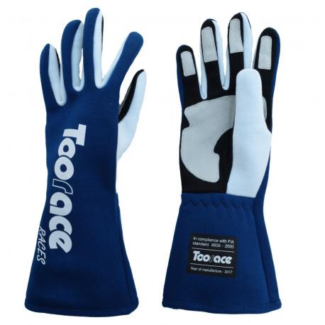Ръкавици RACES TRST2 ръкавици с FIA одобрение (вътрешни шевове) син   race-shop.bg