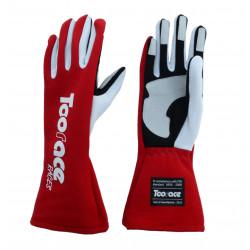 RACES TRST2 ръкавици с FIA одобрение (вътрешни шевове) червен