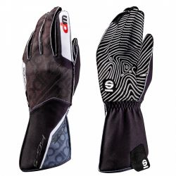 Състезателни ръкавици Sparco Motion KG-5 WP (външен шев) черен/бял