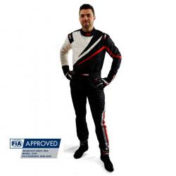 FIA състезателен гащеризон RRS EVO Dynamic черен/ червен