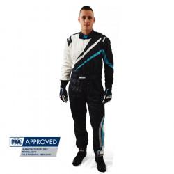 FIA състезателен гащеризон RRS EVO Dynamic черен/ син