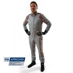 FIA състезателен гащеризон RRS EVO Monte Carlo сив/ червен