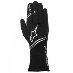 Alpinestars Gloves Tech-1 Start with FIA Approval - Black / White