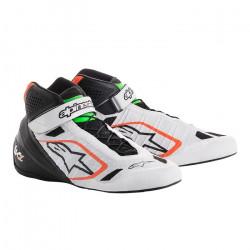 Races Shoes ALPINESTARS Tech-1 KZ - White/Black/Orange