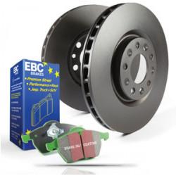 Преден комплект EBC PD01KF288 - Спирачни дискове Premium OE + накладки Greenstuff