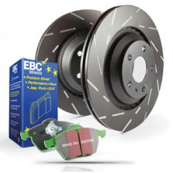 Заден комплет EBC PD06KR073 - Спирачни дискове Ultimax Grooved + накладки Greenstuff