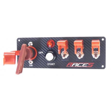 Превключващи панели Стартов панел RACES ISP4 carbon   race-shop.bg