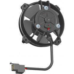 Универсален електрически вентилатор SPAL 130мм - всмукващ , 24V