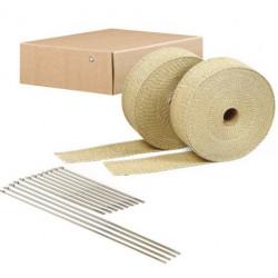 Exhaust Wrap DEI - 2szt. 5cm x 15m - Tan+ locking ties