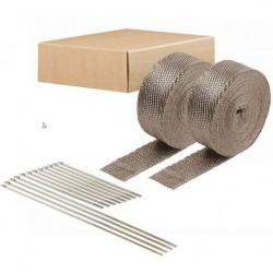 Exhaust Wrap DEI - 2szt. 5cm x 15m - Titanium+ locking ties