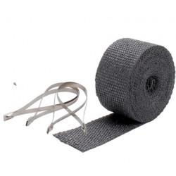 Exhaust Wrap DEI 5cm x 7,5m - Black + locking ties