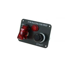 Carbon start panel with waterproof start button