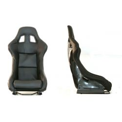 Състезателна седалка EVO PVC CARBON ЧЕРНА