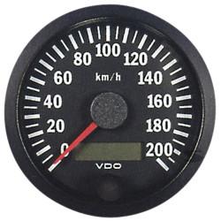 VDO датчик тахометър 80mm 0-200km/h - cocpit vision series