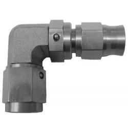Спирачен фитинг M10x1, неръждаема стомана, 90° женски